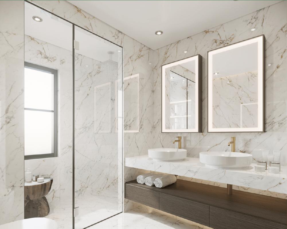 dusjdør og speil